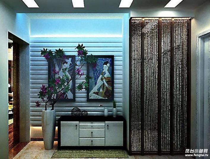 习空间,简单的层板书架为单调的墙面添加了使用效果,在书房一角为